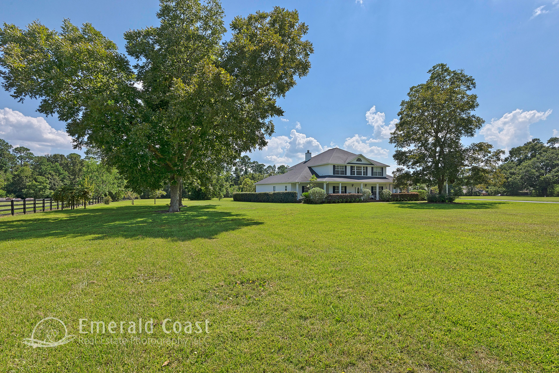 home with large front lawn