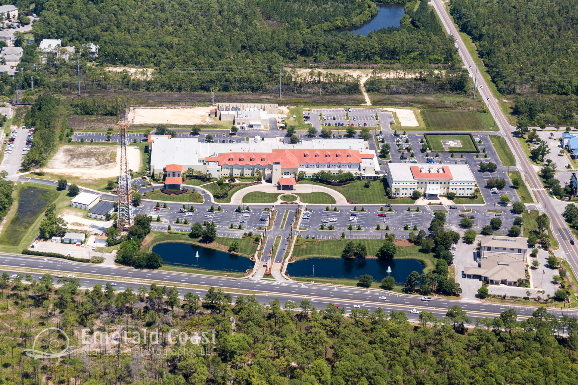Sacred Heart Hospital, Aerial Photograph, Santa Rosa Beach, Florida