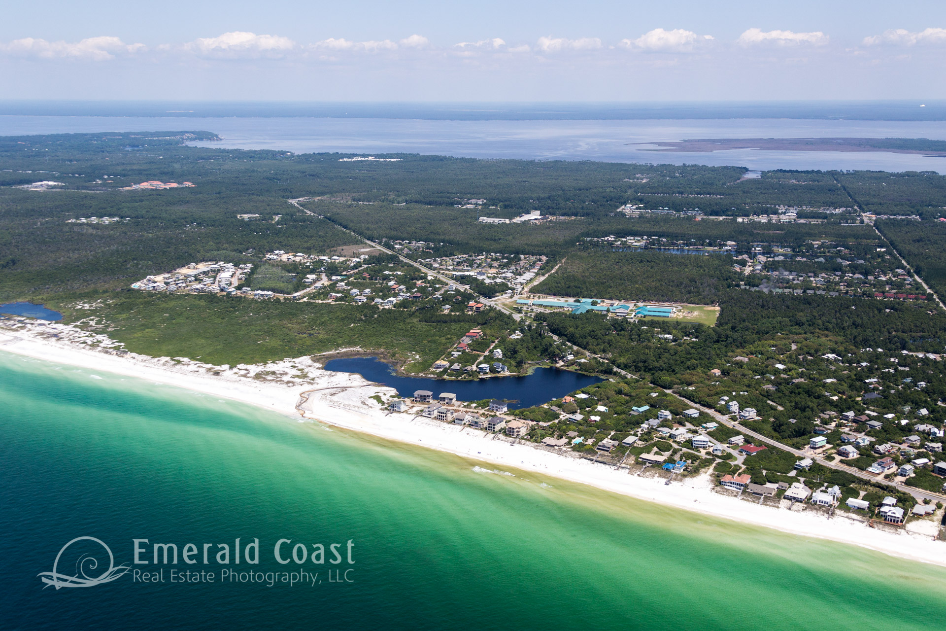 Aerial view of County Highway 30A, Santa Rosa Beach, Florida