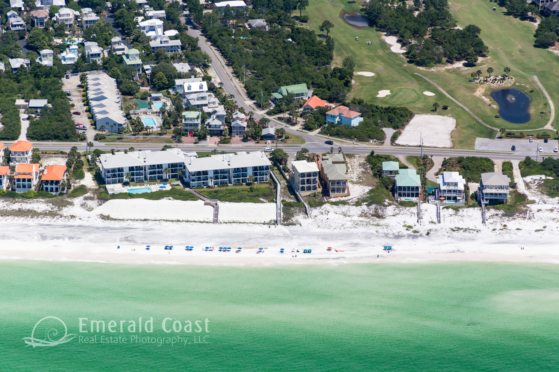 Aerial Photography of Co Hwy 30A, Santa Rosa Beach, Florida