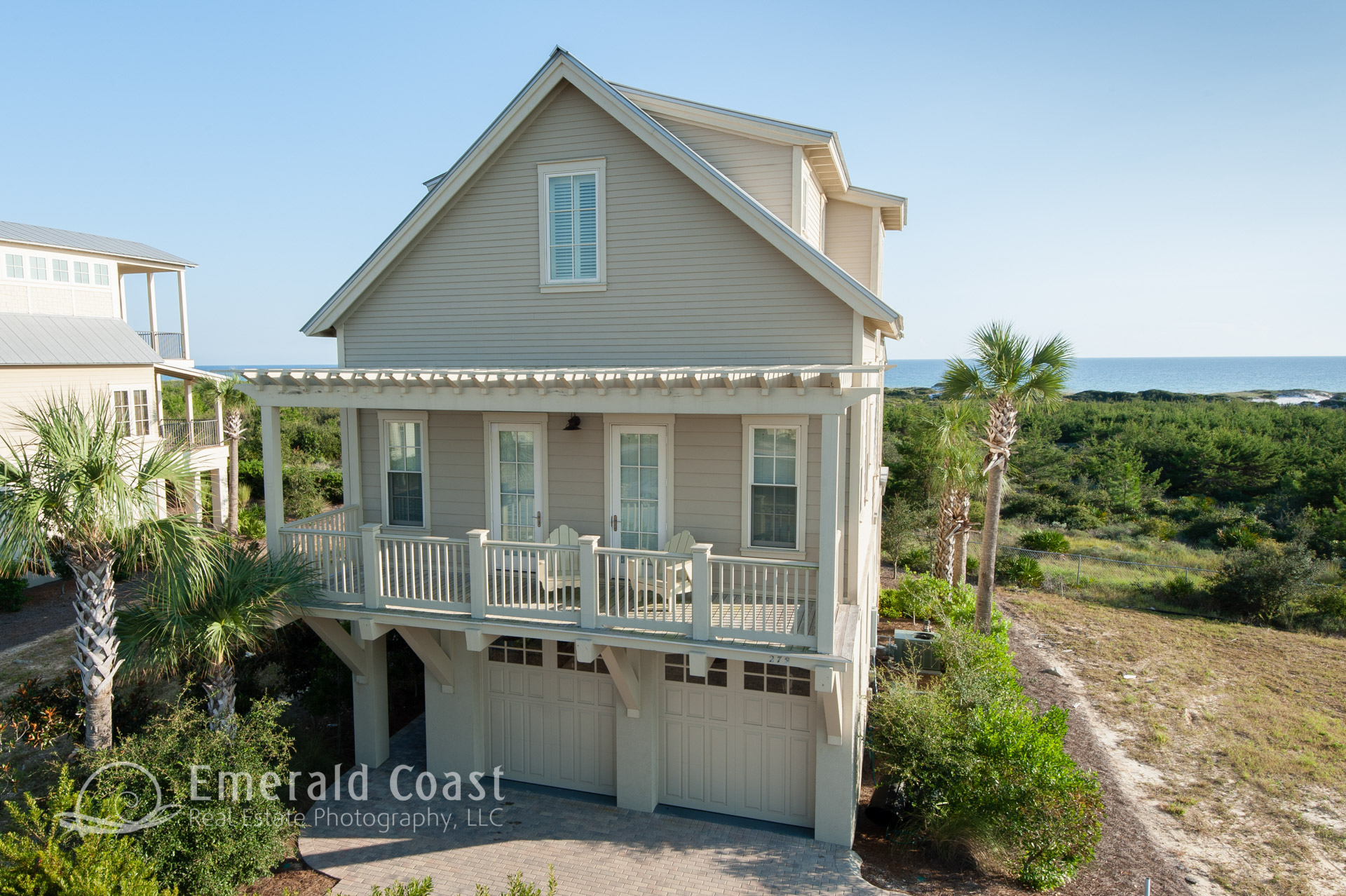 aerial photo of home in Cypress Dunes