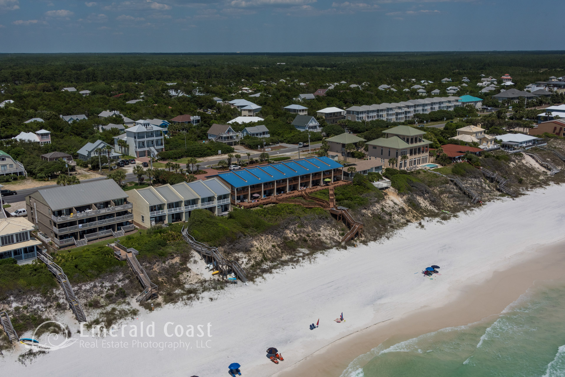 aerial photo of Blue Nine condominium Seacrest Beach, Floida