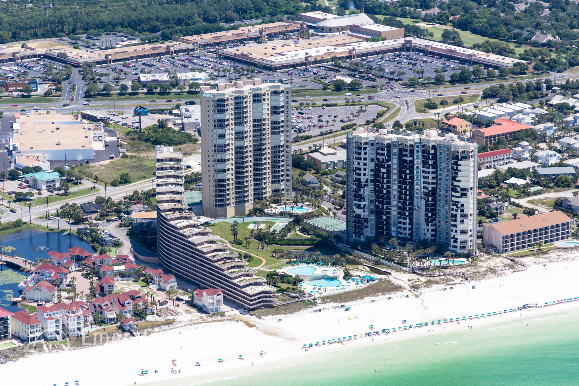 aerial view of the Sandestin Beach Resort