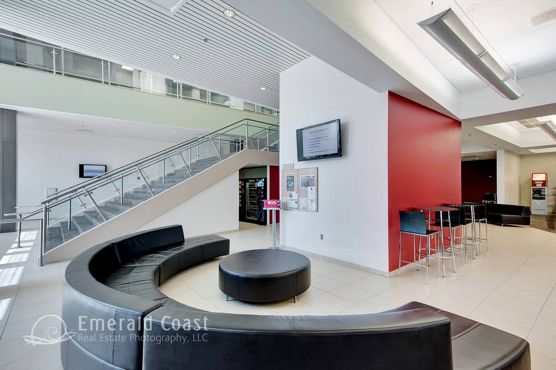 Lobby area of Northwest Florida State Student Life Center
