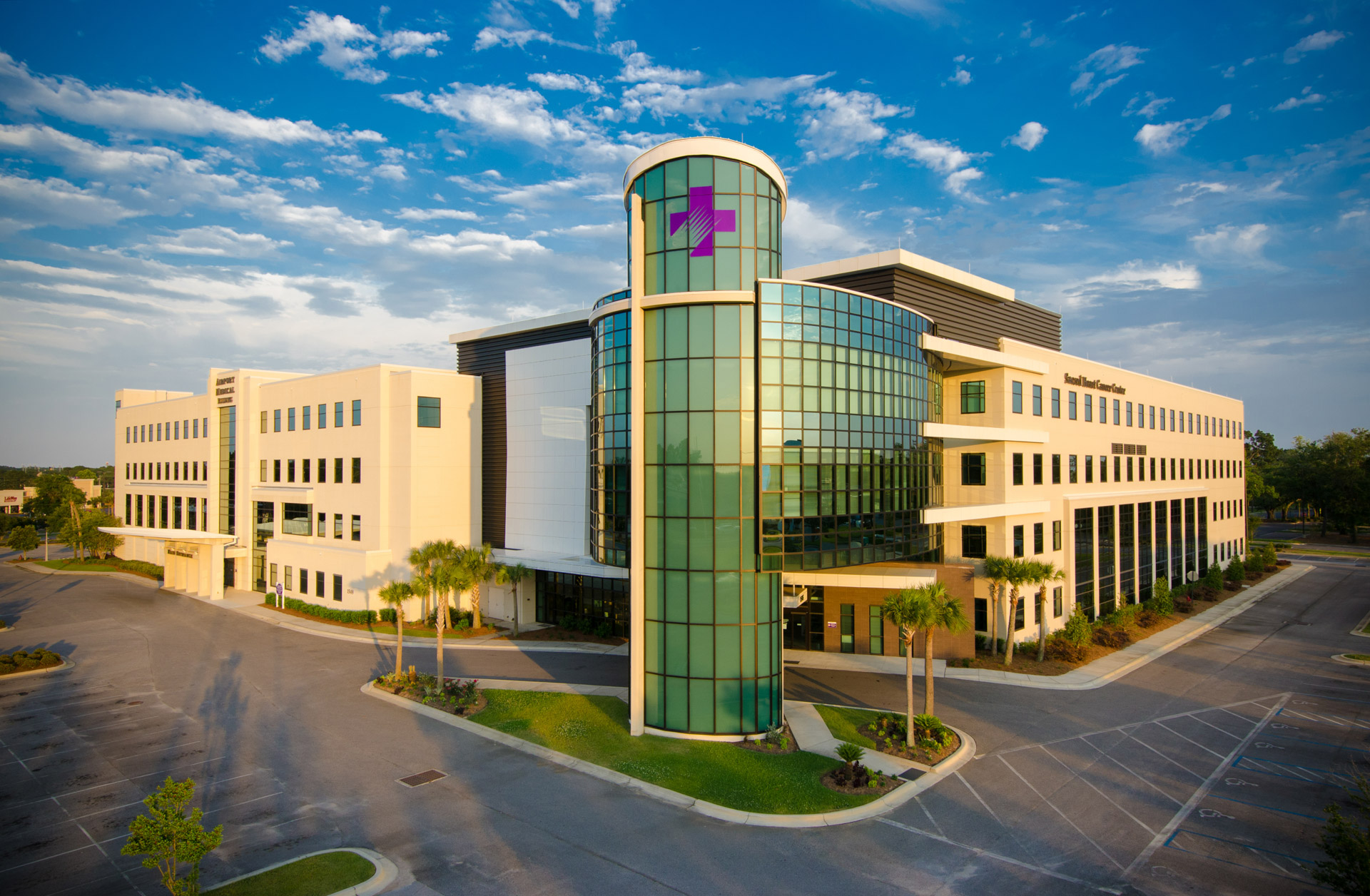 Sarah Canon Cancer Center, Pensacola, Florida, Aerial Photo