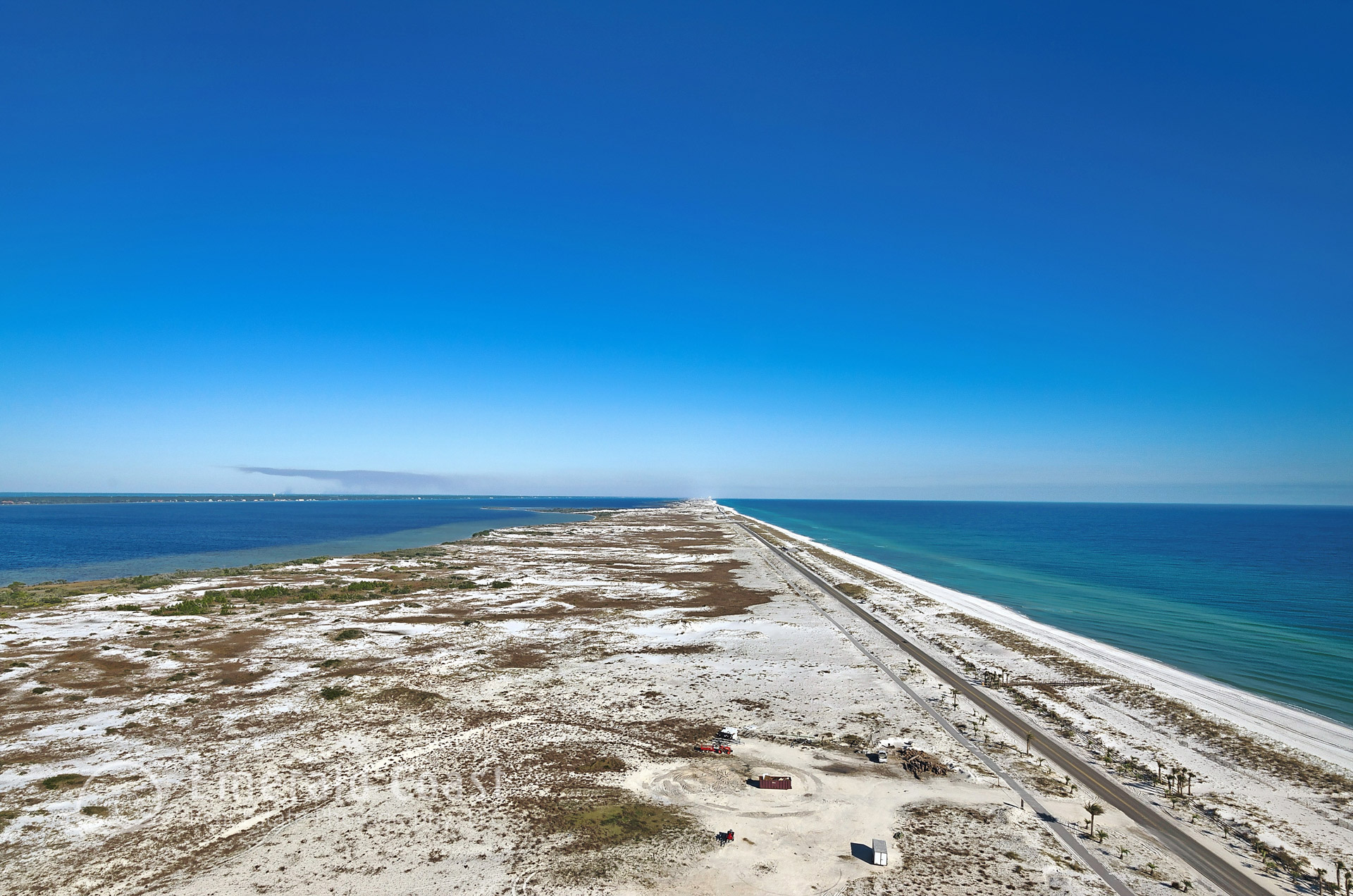 View of the National Seashore and Gulf of Mexico