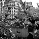 Marque Chaffee has been feeding the pigeons in the Notre Dame square for 10 years.