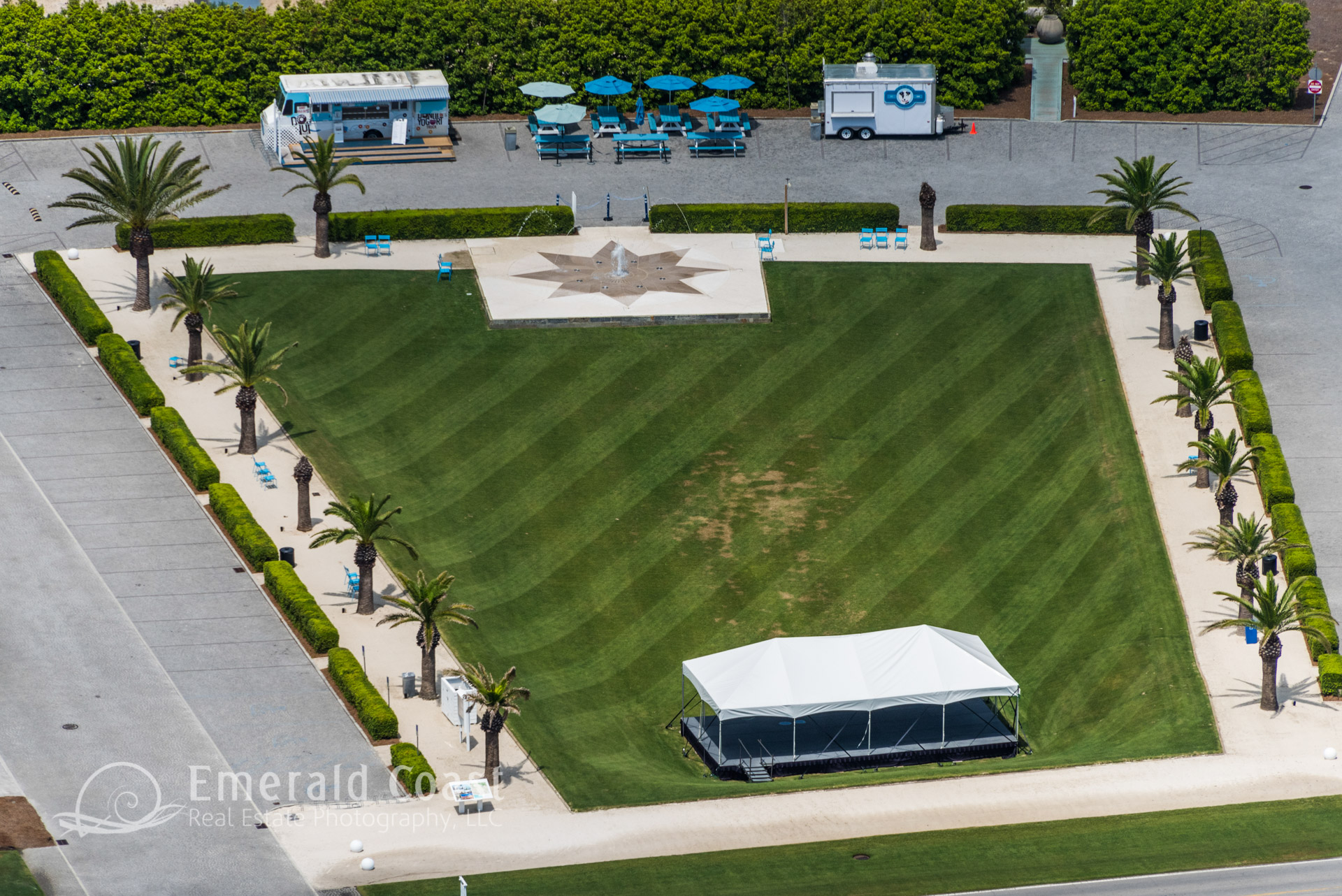 Aerial View of the lawn at Alys Beach