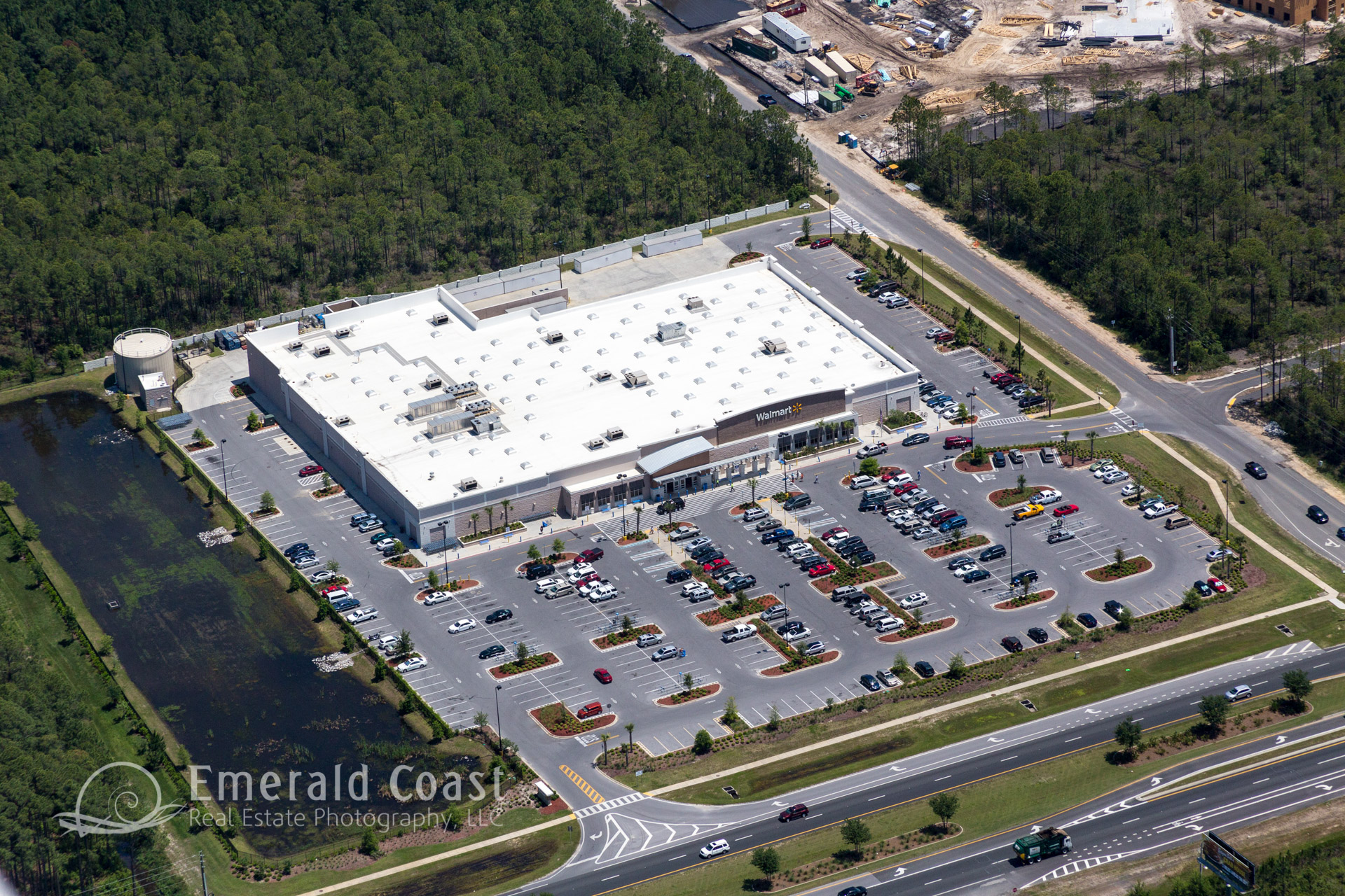 aerial view of Wal-Mart