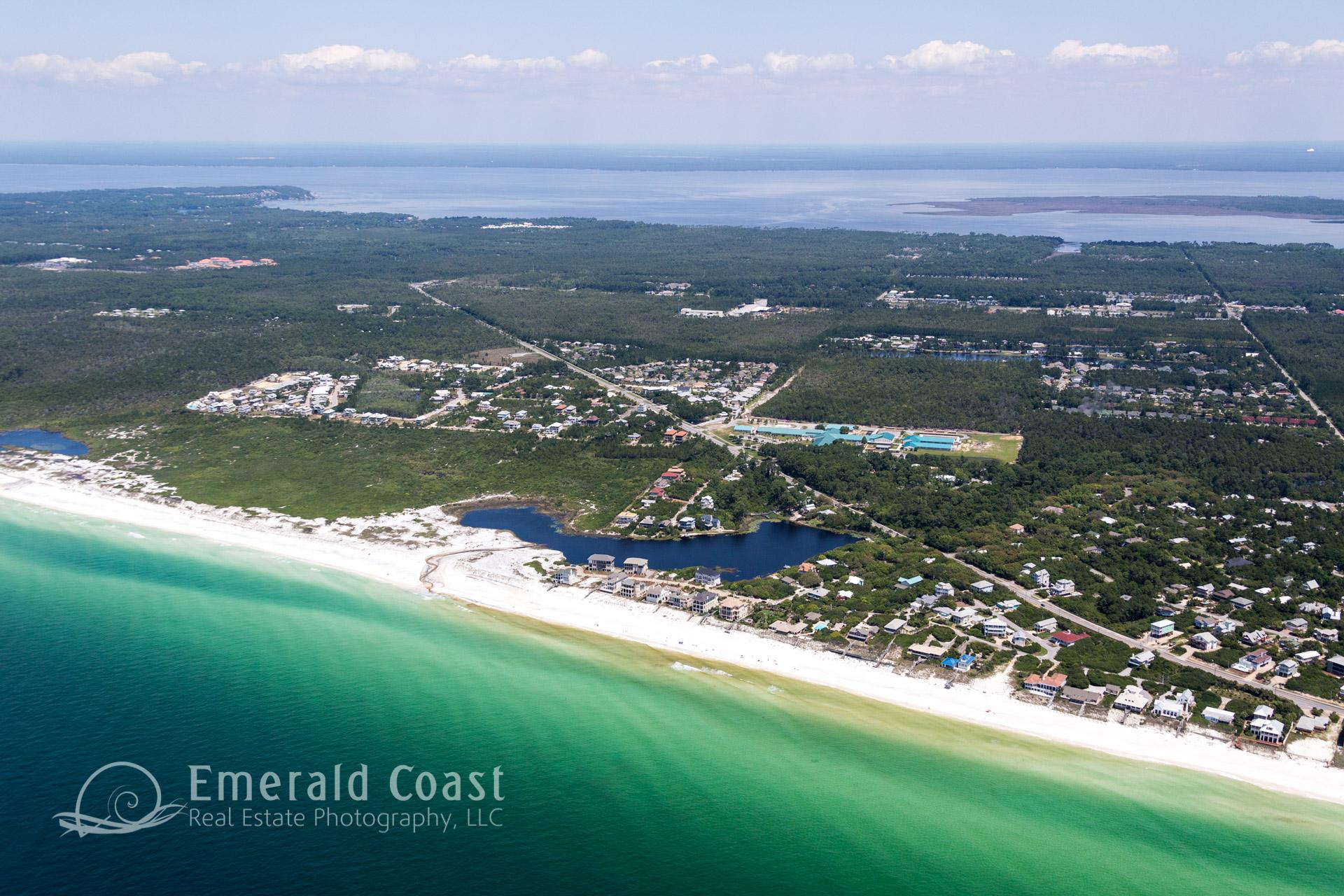 Aerial view of County Highway 30A, Santa Rosa Beach, Florida