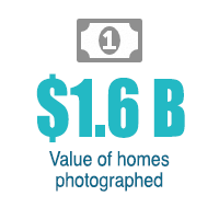 value of homes photographed